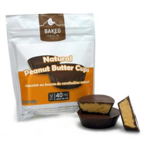 baked edibles cannabis infused food chocopeanut cup 40mg